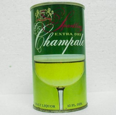 CHAMPALE MALT LIQUOR Can - Champale Inc. Trenton, N. J. - Sparkling Extra Dry - Straight Steel
