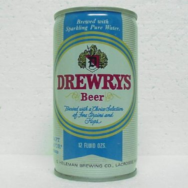 DREWRYS BEER Can - G. Heileman Brewing Co. - 4 Cities - Draft Flavor