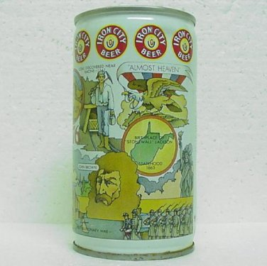 IRON CITY BEER Can - West Virginia - Pittsburgh Brewing Co. - Crimped Steel - Pull tab