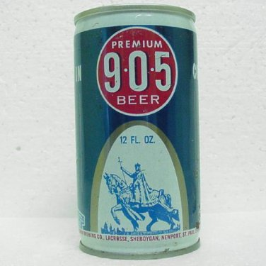 905 PREMIUM BEER Can - G. Heileman Brewing Co. - 5 cities - Crimped Steel - Pull tab