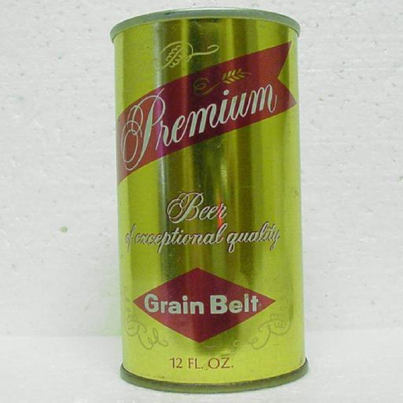 GRAIN BELT PREMIUM Beer Can - Grain Belt Breweries - Minneapolis, MN - Pull tab - straight steel