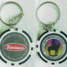 2 BINION'S Casino Keyrings - Fremont St. - Downtown Las Vegas, NV