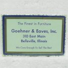 GOEHNER & EAVES, INC. Playing Cards - Belleville, IL - Bridge Size - Unused