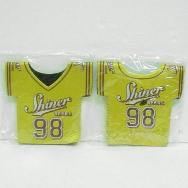 2 SHINER BEER Insulated Bottle Koozies - Shiner, Texas -