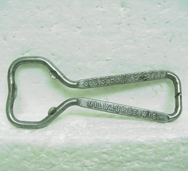 SCHLITZ BEER Wire Bottle Opener - Jos. Schlitz Brg. Co. - Milwaukee, WI