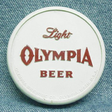 OLYMPIA BEER Bottle Opener - Bottle Cap Shape - Olympia Brewing - Olympia, WA