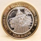 4 QUEENS $10.00 Gaming Token Silver Strike - Winter - Fremont St. Las Vegas, NV