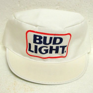 4 BUD LIGHT Caps - Anheuser-Busch - Made in USA - unused