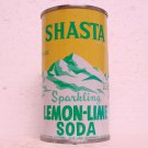 SHASTA LEMON-LIME SODA Can - Shasta Beverages - Hayward, CA - flat top - 12 oz.
