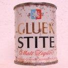 GLUEK STITE MALT LIQUOR Can - Gluek Brewing Co. - Minneapolis, MN - 8 oz. - Flat top