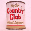 GOETZ COUNTRY CLUB MALT LIQUOR Can - M. K. Goetz Brewing Co. - St. Joe, MO - Flat top - 8 oz.