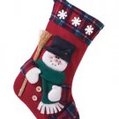 Plush Snowman Christmas Stocking