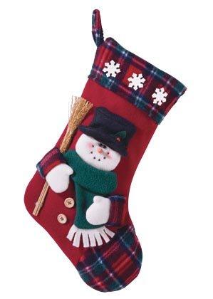 Plush Snowman Christmas Stocking