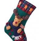 Plush Rudolph Christmas Stocking