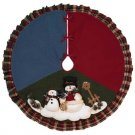 Snowman Christmas Tree Skirt