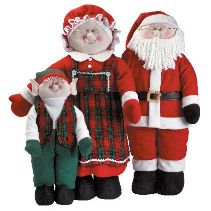 Soft Sculpture Santa Family Christmas