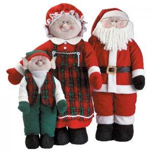 Soft Sculpture Santa Family Christmas