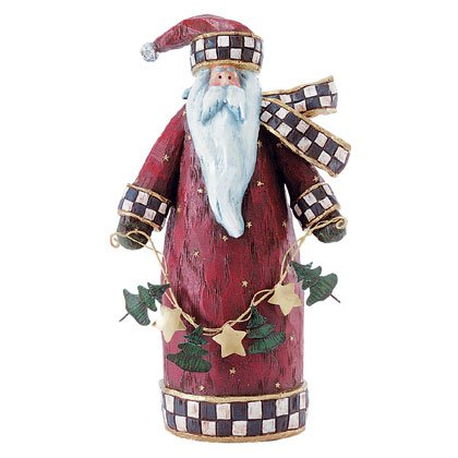 Folk Art Santa Figure Christmas