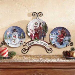 Holiday Plate Display Merry Christmas