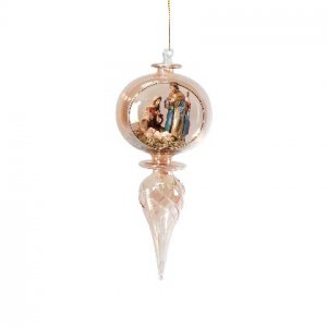Amber Nativity Ornament Christmas