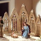 Glorious Christmas Nativity Set Mirrored Backdrop