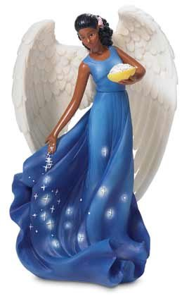 Starry Christmas Angel Figure