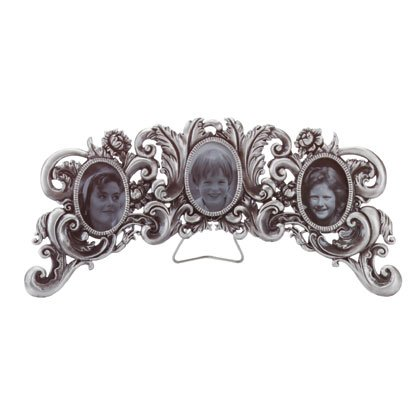 Arched Photo Frame Pewter Scrollwork