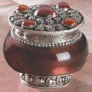 Lavender Jeweled Lid Jar Candle
