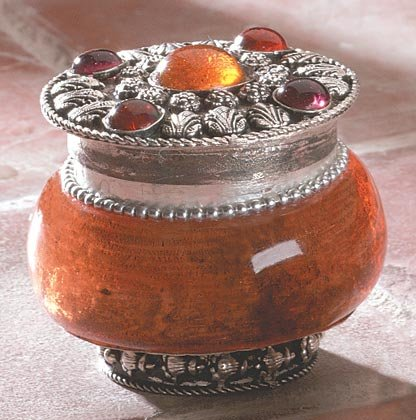 Sandalwood Jeweled Lid Jar Candle