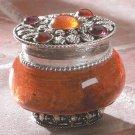 Sandalwood Jeweled Lid Jar Candle