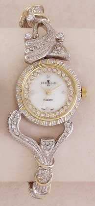 Two Tone Bangle Ladies Watch Gold And Silver
