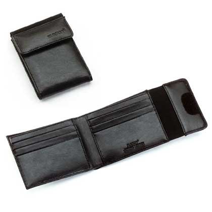 Buxton Leather Man's Wallet Billfold External ID Display