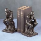 "Verdigris ""Thinker"" Bookends Weathered Bronze"