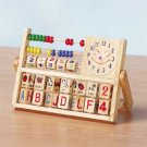 Education Station Wood Abacus Clock