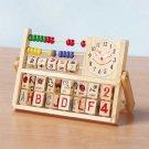 Education Station Wood Abacus Clock