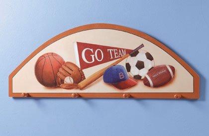 Wooden Sports Fan Coat Hanger