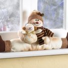 Christmas Snowman Windowsill Sitter