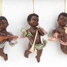 Cheery Cherub Christmas Tree Ornament Trio