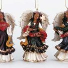 Bright Angel Christmas Tree Ornament Trio