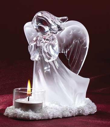 Devout Angel Candle Holder