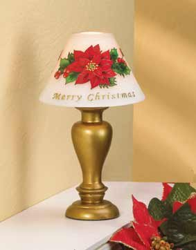Poinsettia Candle Lamp