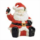 Santa Cookie Jar Ceramic