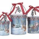 Santa Christmas Gift Boxes Set Of 3