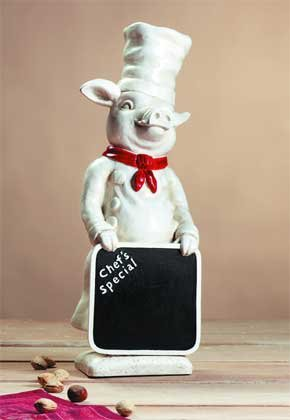 Piggy Pig Chef Chalkboard