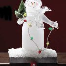 Lighted Snowman Stocking Holder