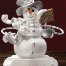 Let It Snow Snowman Stocking Hanger