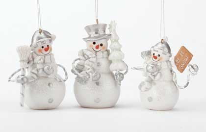 Snowman Ornament Set Of 3