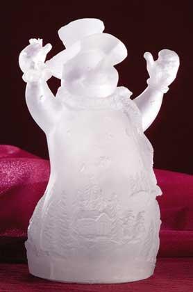 Multi Color Lit Snowman Figurine
