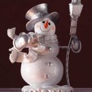 Snowman With Lamp Post Figurine