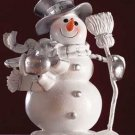 Snowman With Broom Figurine